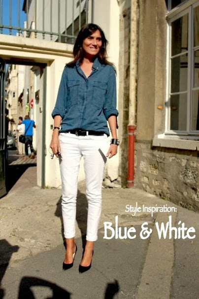 Style Inspiration: Blue and White