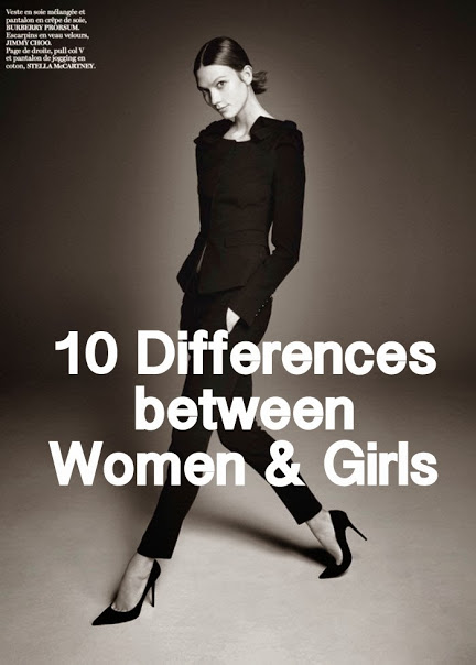 10 differences between women girls the simply for Simply luxurious life blog
