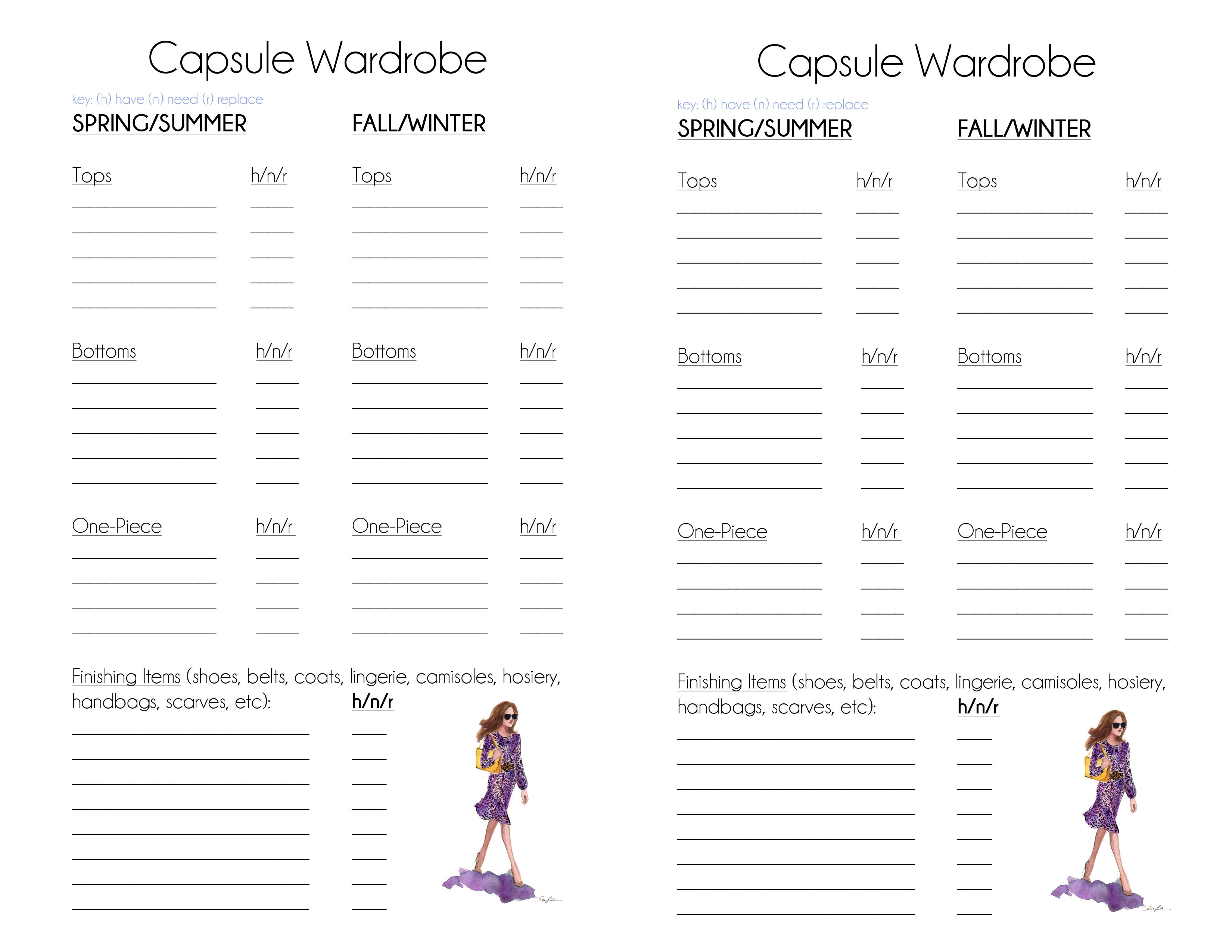 CLASSIC – Capsule Wardrobe Planner – The Simply Luxurious
